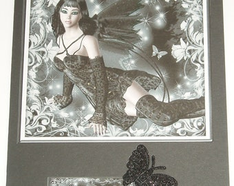 Goth Dark Fairy Greeting Card