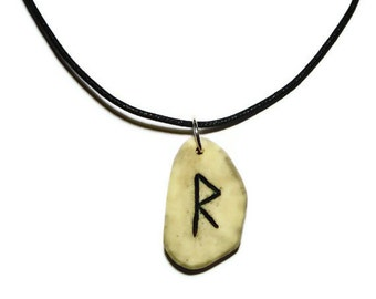 Raidho Bone Rune Necklace