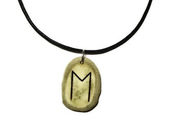 Ehwaz Bone Rune Necklace