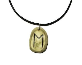 Ehwaz Bone Rune Necklace