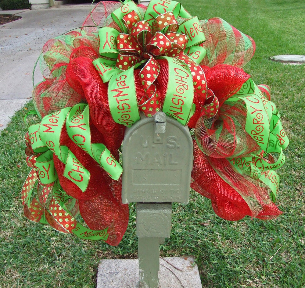 How to make a christmas wreath with mesh - Like This Item
