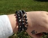 Hematite and Chinarovski Bracelet