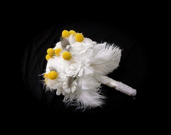 Billy Button/Craspedia Wedding Bouquet