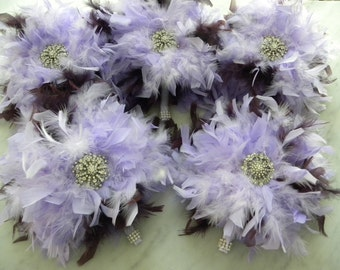 12 piece Lavender Feather Bridal Package