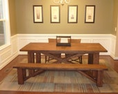 Bonnie - X Base Dining Table Reclaimed Oak (Handmade)