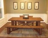 Bonnie - X Base Dining Table Reclaimed Oak (Handmade)