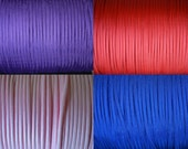 100 Feet (550 Type III) of 4 Paracord Colors, 25 feet each (Purple, Red, Rose Pink, & Electric Blue)