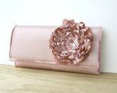 Handmade Dusty Rose Romantic Clutch Valentines Day Gift