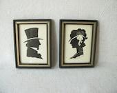 Vintage Silhouette Prints Pair