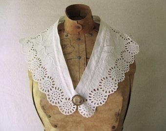 Vintage Collar, Eyelet, Cotton, Women's, Ladies