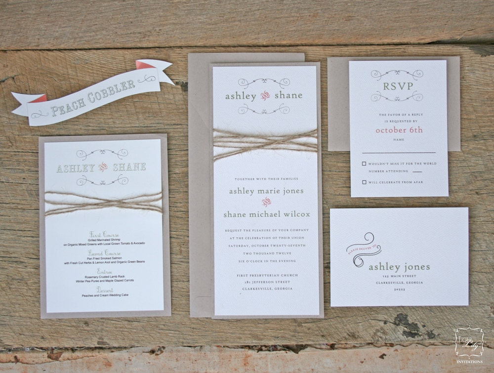 Rustic Wedding Invitations Top 6 Rustic Wedding Invitations For – Etsy Rustic Wedding Invitations