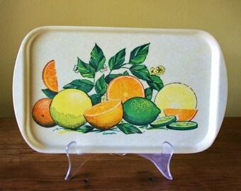 Vintage Fiberglass Tray - Citrus Fruit - Rexilite