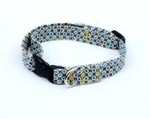 A Gentleman's Polka Dot Adjustable Dog Collar - Extra Small - Ready to Ship