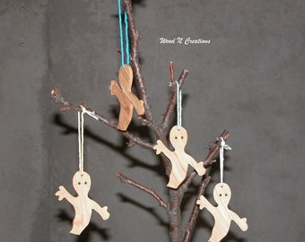 Halloween Decoration - Four Hanging Ghosts for Your Halloween Decor