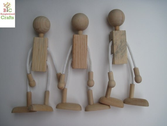 Unfinished Wooden People