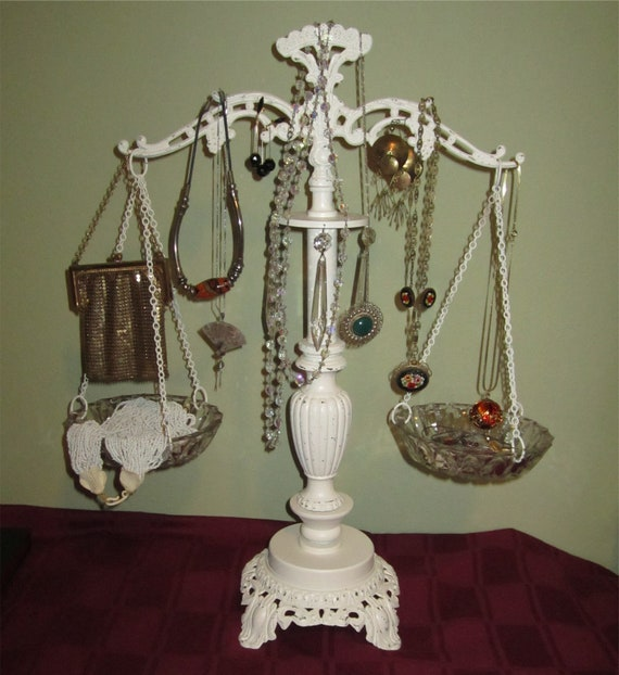 BALANCE SCALE  Home Decor Candle  Holder  - Object Holder - Jewelry Display Holder