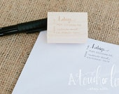 MODERN CALLIGRAPHY Custom Design Return Address Stamp