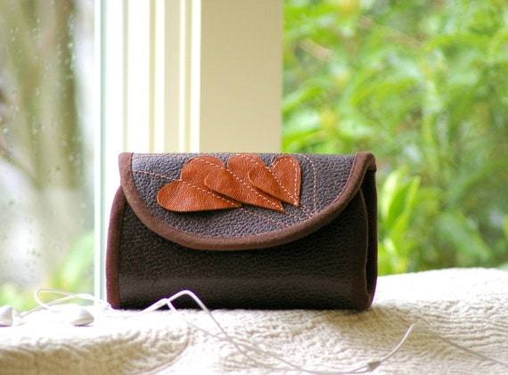 I love  - phone wallet in leather -  type 1