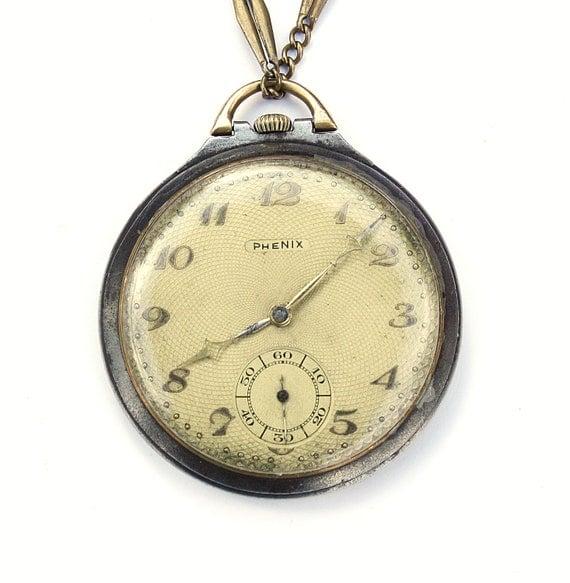 RARE Antique Swiss Pocket Watch Phenix old pocket watch, retro pocket watch, vintage pocket watch