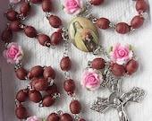 Real Rose Petals Saint Theresa Rosary