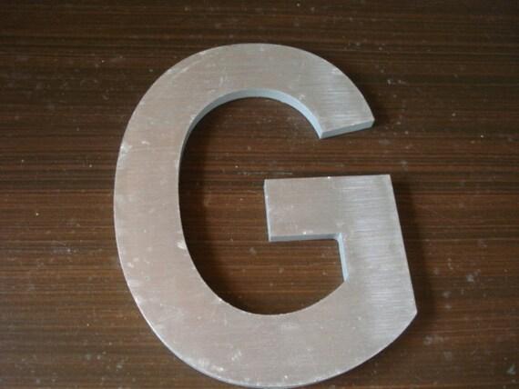 """Vintage Metal Sign Letter G 4"""" tall"""