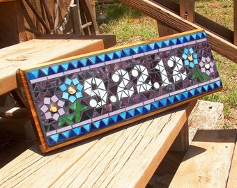 Mosaic Outdoor Sign / Plaque  - Name, Address, Save the Date
