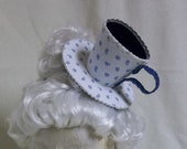 RESERVED FOR TIFANI- Teacup Fascinator- Blue and White