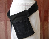 Black Pocket Holster or Bum pockets - adjustable size SALE