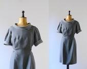 Vintage 1960s grey tent dress. 60s gray dress