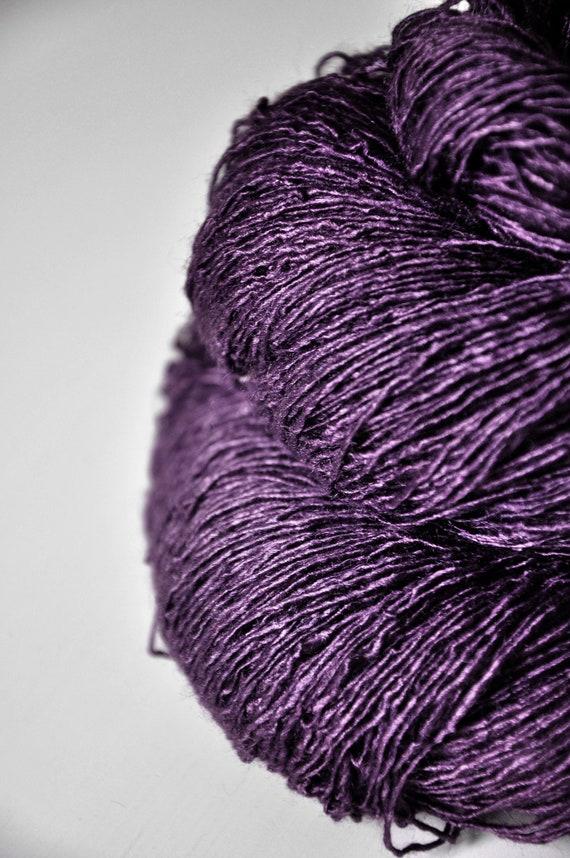 Mashed plums - Tussah Silk Yarn Fingering weight
