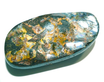 Boulder Opal Cabochon - Giant Size Perfect for a Belt Buckle Rainbow Pin Fire - Natural Australian Opal