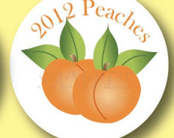 Peaches Canning Jar Labels, Set of 20 Stickers