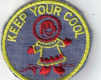 KEEP YOUR COOL Retro Vintage Sewing Patch Applique