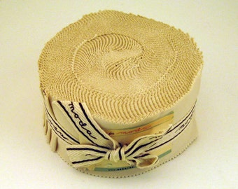 Bella Solids Jelly Roll Natural 9900JR 12- 1 Jelly Roll 2 1/2 inch x 44 inch Strips