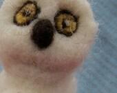 white owl needle felte bird wild life Snowy owl ooak