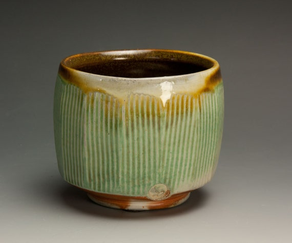 Handcrafted soda fired tea cup/bowl- Japanese yunomi-515