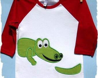 Alligator Machine Applique Embroidery Design