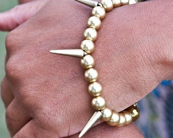 Gold Pearl Tough Girl Bracelet