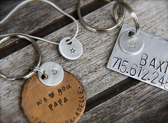 """Add A 1/2"""" Charm to your Custom Pet ID Tag, Keychain or Necklace - Bronze, Copper or Aluminum"""