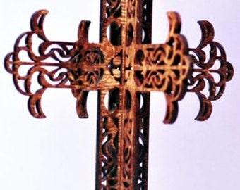 3-D Wood Arrow Cross Ornament