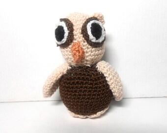 Baby Owl Miniature, Owl, Brown Baby Owl