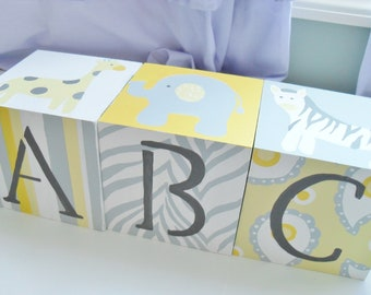 Jumbo ABC Blocks- Gender Neutral Nursery Decor