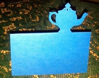 Tea pot place cards set of 6