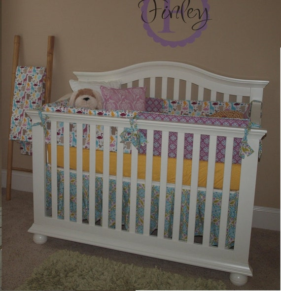 5-Piece Bedding Set Bumpers, Gathered Skirt, Crib Blanket, 2 Sheets--YOU DESIGN, I CREATE