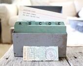 Vintage Metal Address File, Address Box, Recipe Box, Office Decor, Ephemera