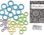1090 - ChiaoGoo Stitch Markers 40 count - 4 sizes x 10 each