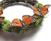 Orange Woodland Butterfly Wreath