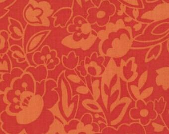 Oh My Poppy Fields in Orange, by Sanae for Moda, 1 yard