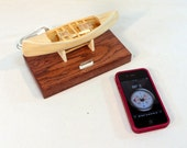 iPhone - iPod Dock -Charger and Sync Dock - Oak - Canoe Boat docking station - Boat Dock- FREE Shipping
