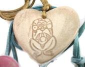Cream Heart Necklace